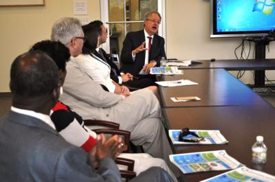 Tecklenburg says response to sea level rise, not climate issues, is his focus