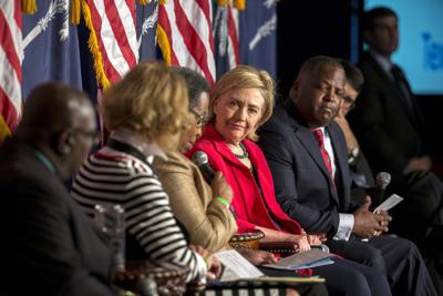 Hillary Clinton praises removal of Confederate flag during S.C. appearance