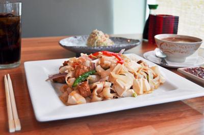 M Vista Ginger Tofu Chow Fun