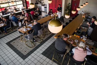 Black Rooster dining room from above