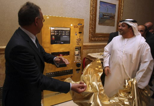 Fancy ATM skips the folding cash, spits out gold