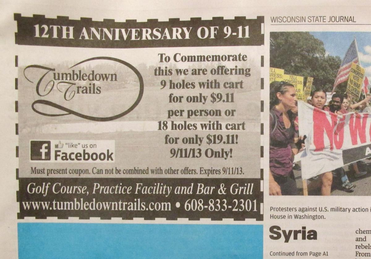 Wisconsin golf course offers, then retracts 9/11 special pricing