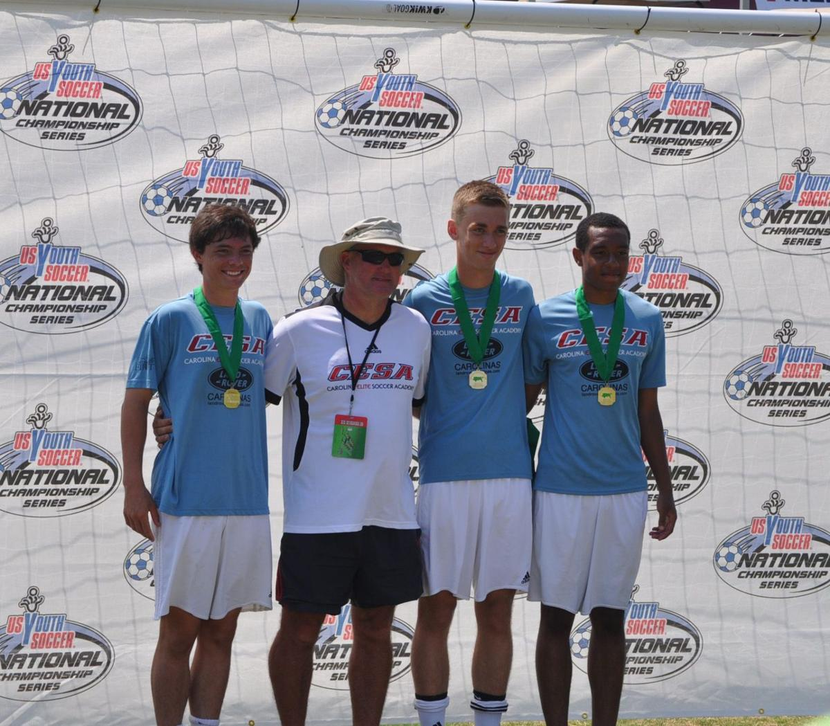 Area trio helps soccer team to title