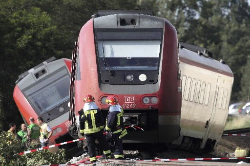 Nearly 50 injured in German train crash