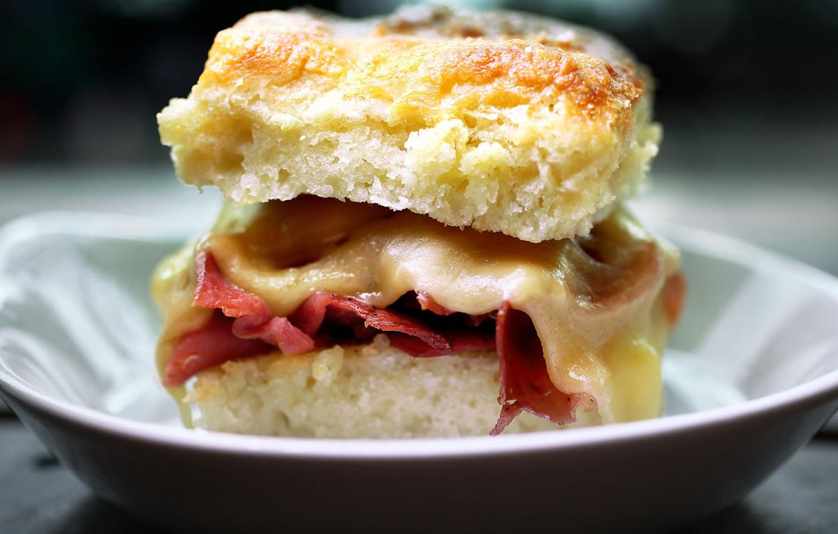 ham biscuit Millers All Day restaurant review.jpg