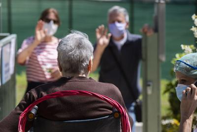 Virus Outbreak Italy Nursing Home Reunions Photo Gallery