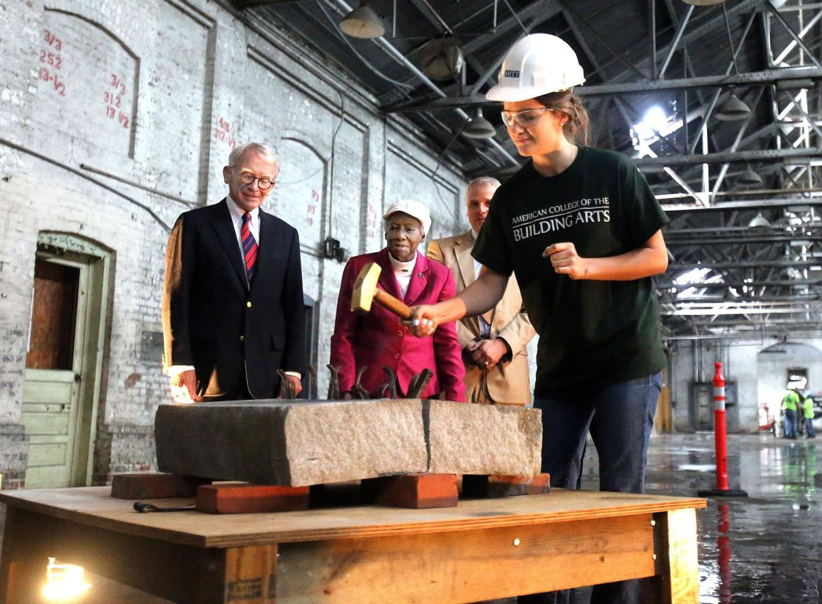 Work begins to convert trolley barn to building arts campus