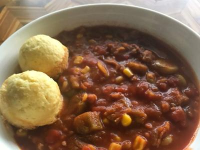 Caroline Newton's okra soup