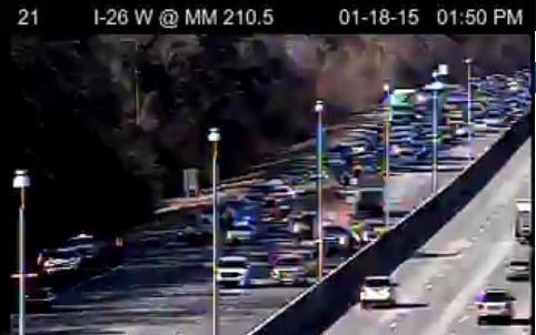 Wreck shuts down 2 left, eastbound lanes on I-26