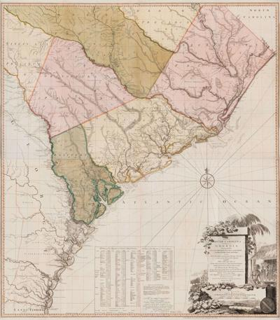 Newly acquired 1780 South Carolina and Georgia map
