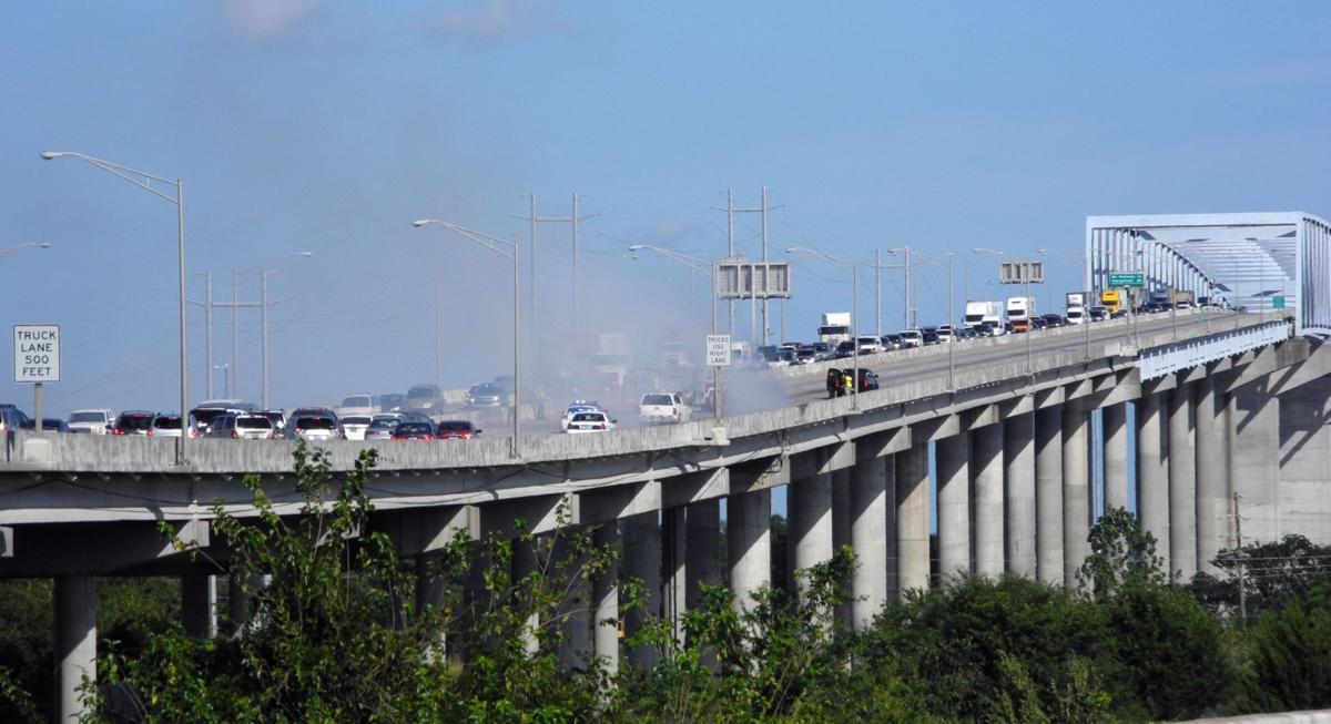 Lanes reopen on Don Holt Bridge after car fire snarls traffic