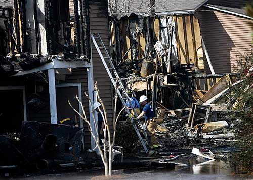 Families forced out by blaze