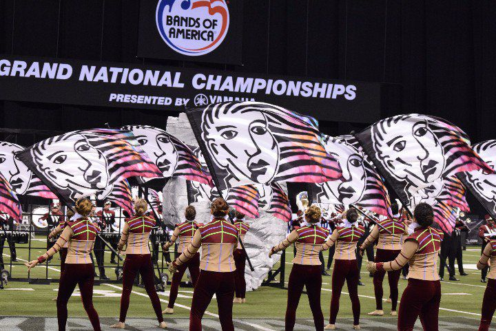 Wando High School marching band performs at the Grand National Championship in Indianapolis