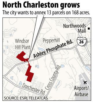 North Charleston eyes 168 acres for annexation