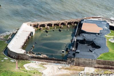 Flooded Fort Sumter