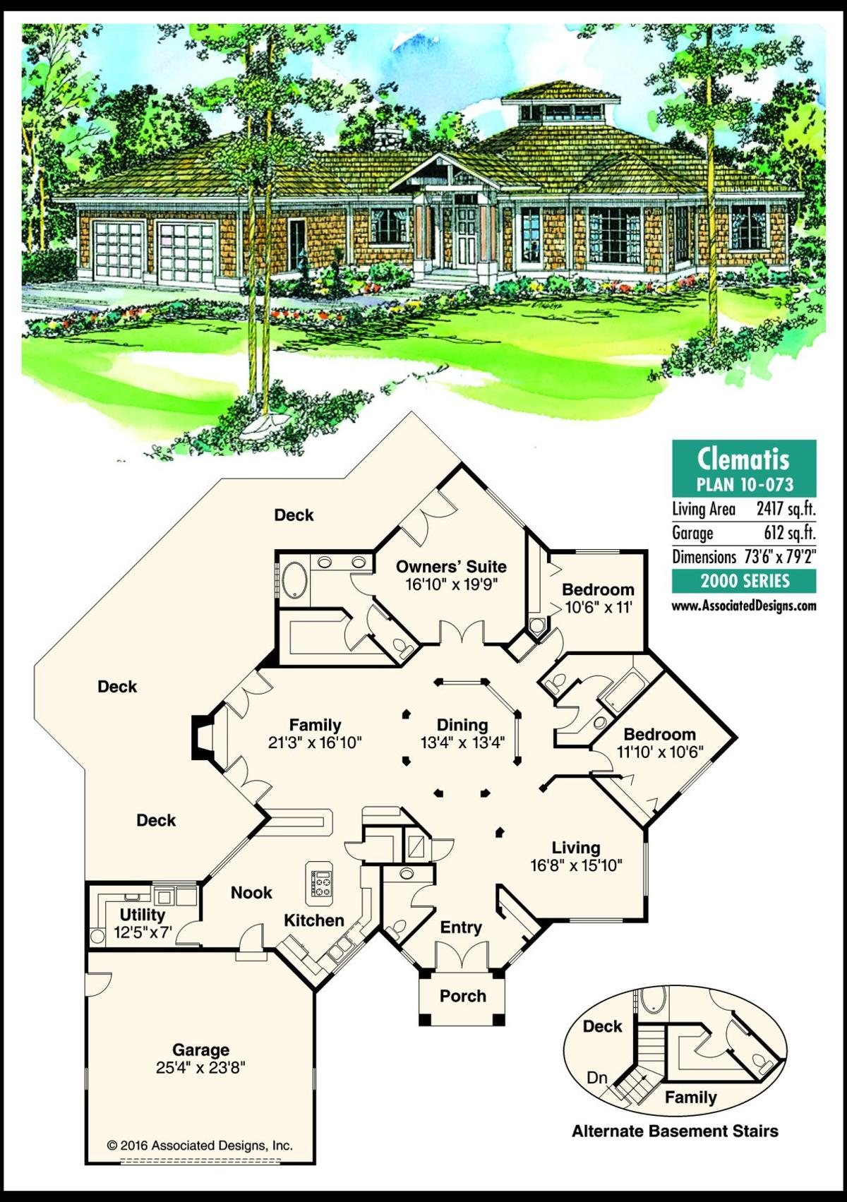 This week's house plan Clematis 10-073