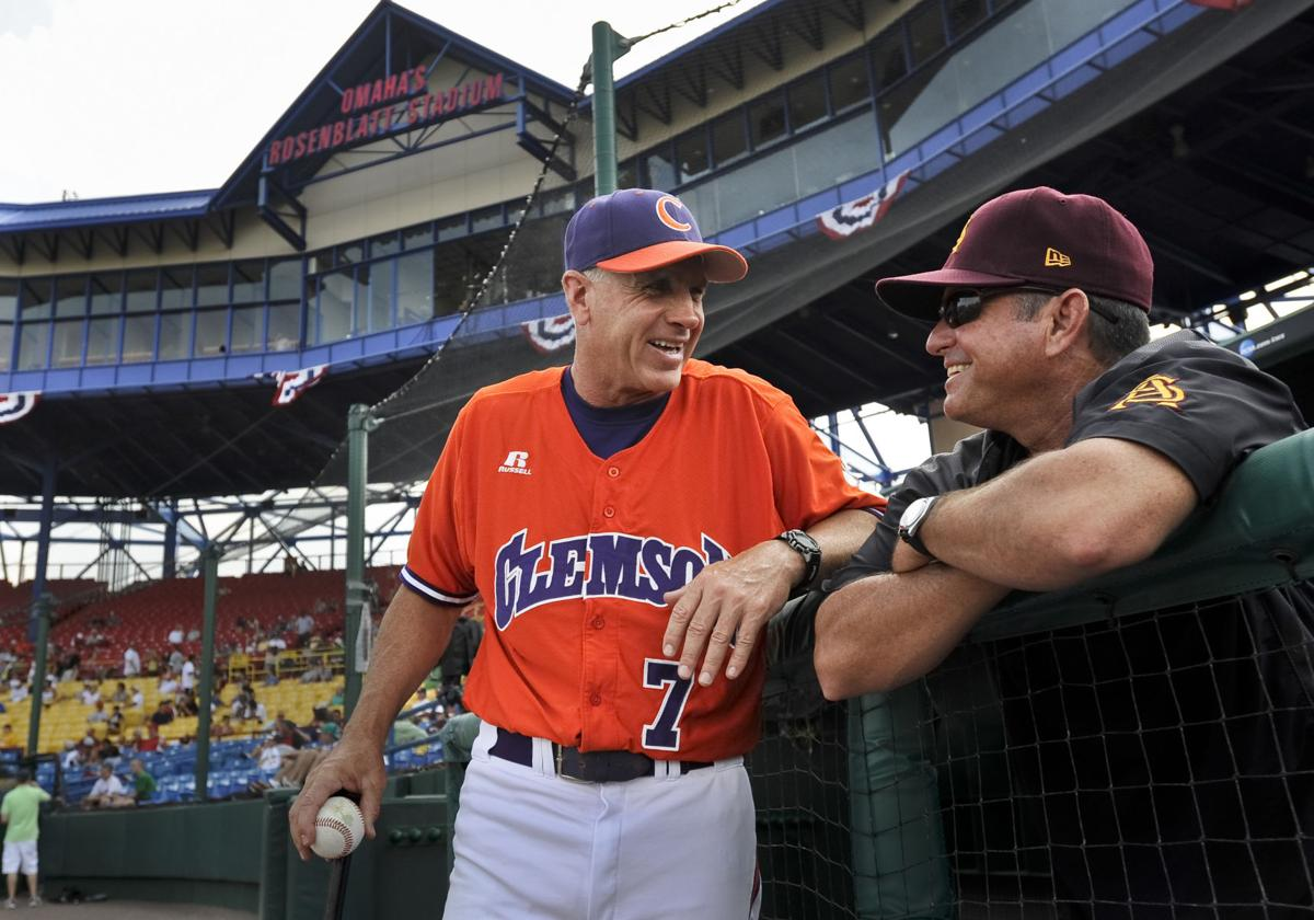 Clemson surrounded by CWS champions at regional