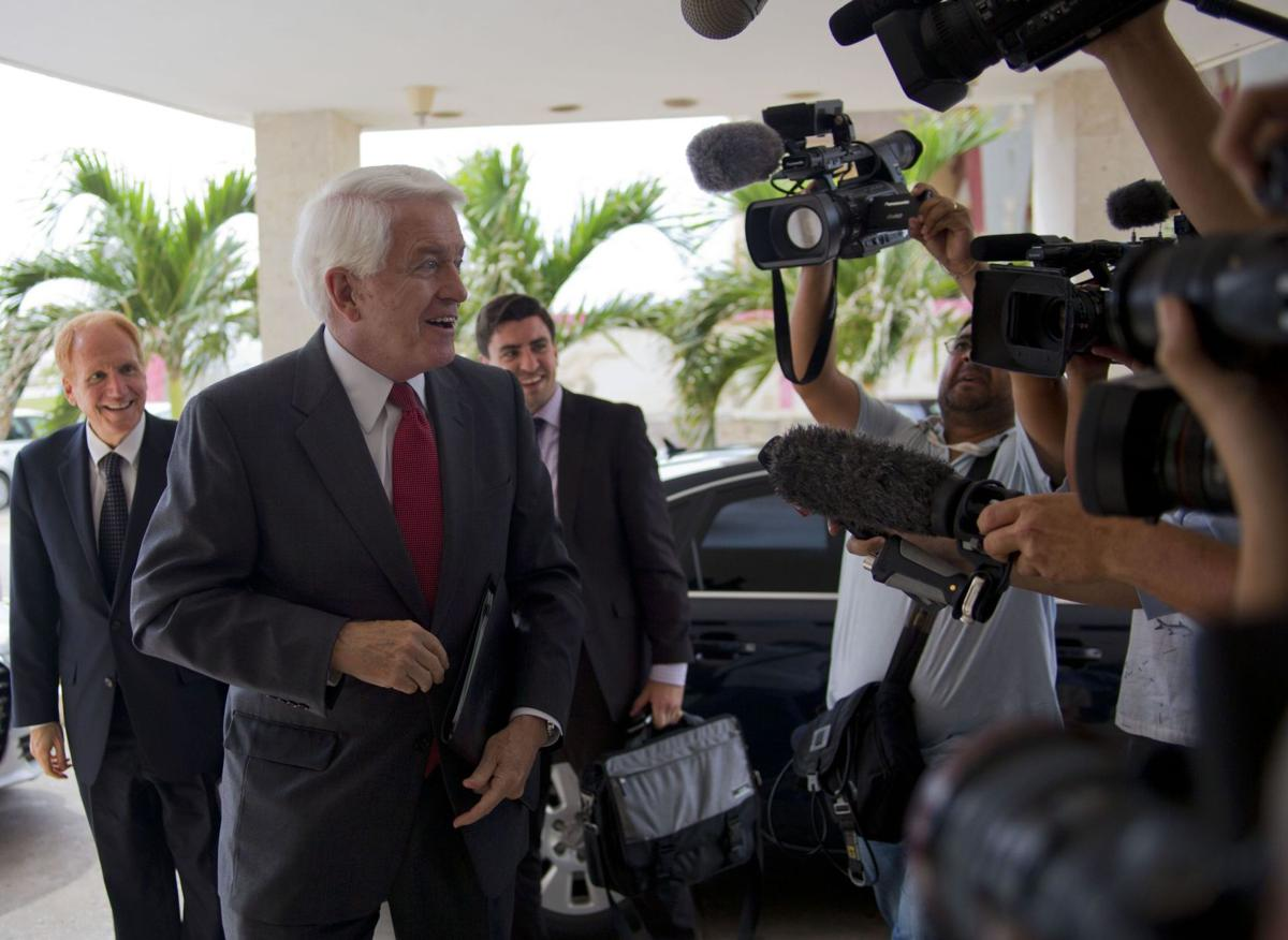 US business leaders assess Cuba business climate<\n>AP Photo XRE101, XRE103