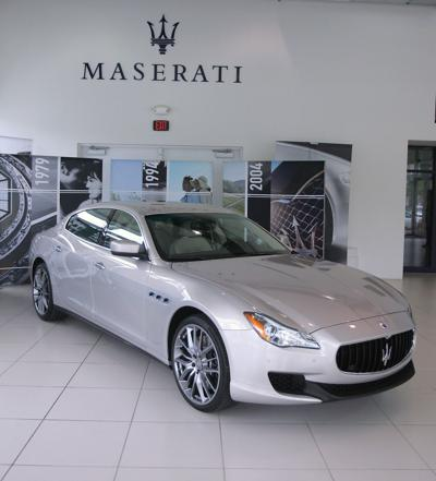 At Sixes and Eights: Remade Maserati Quattroporte, with beefy V-6 and V-8 engines, stops in Charleston