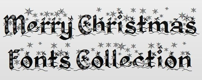 free fonts for christmas