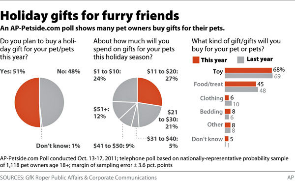 What will your pet find under Christmas tree?