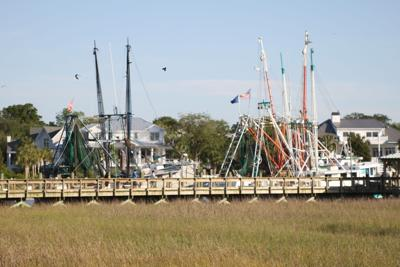 Fishing boats at Shem Creek Park