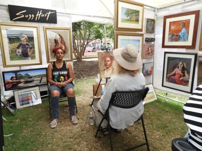 Suzy Hart paints a portrait