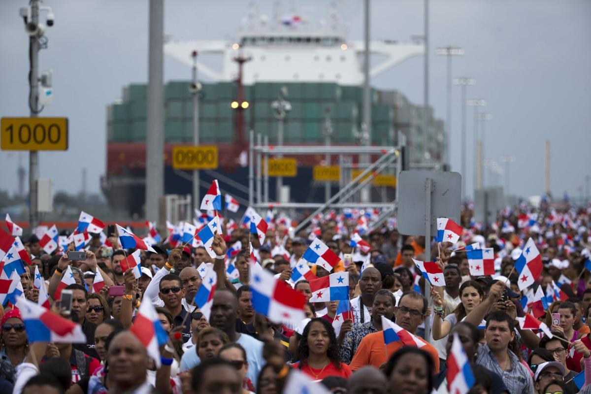 Jubilant Panama opens revamped canal (copy)