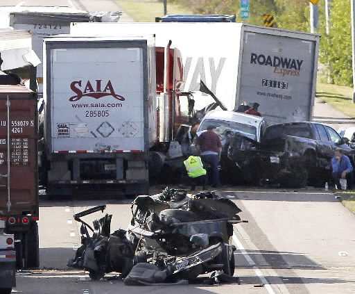 2 dead, 61 hurt in 40-vehicle New Orleans pileup
