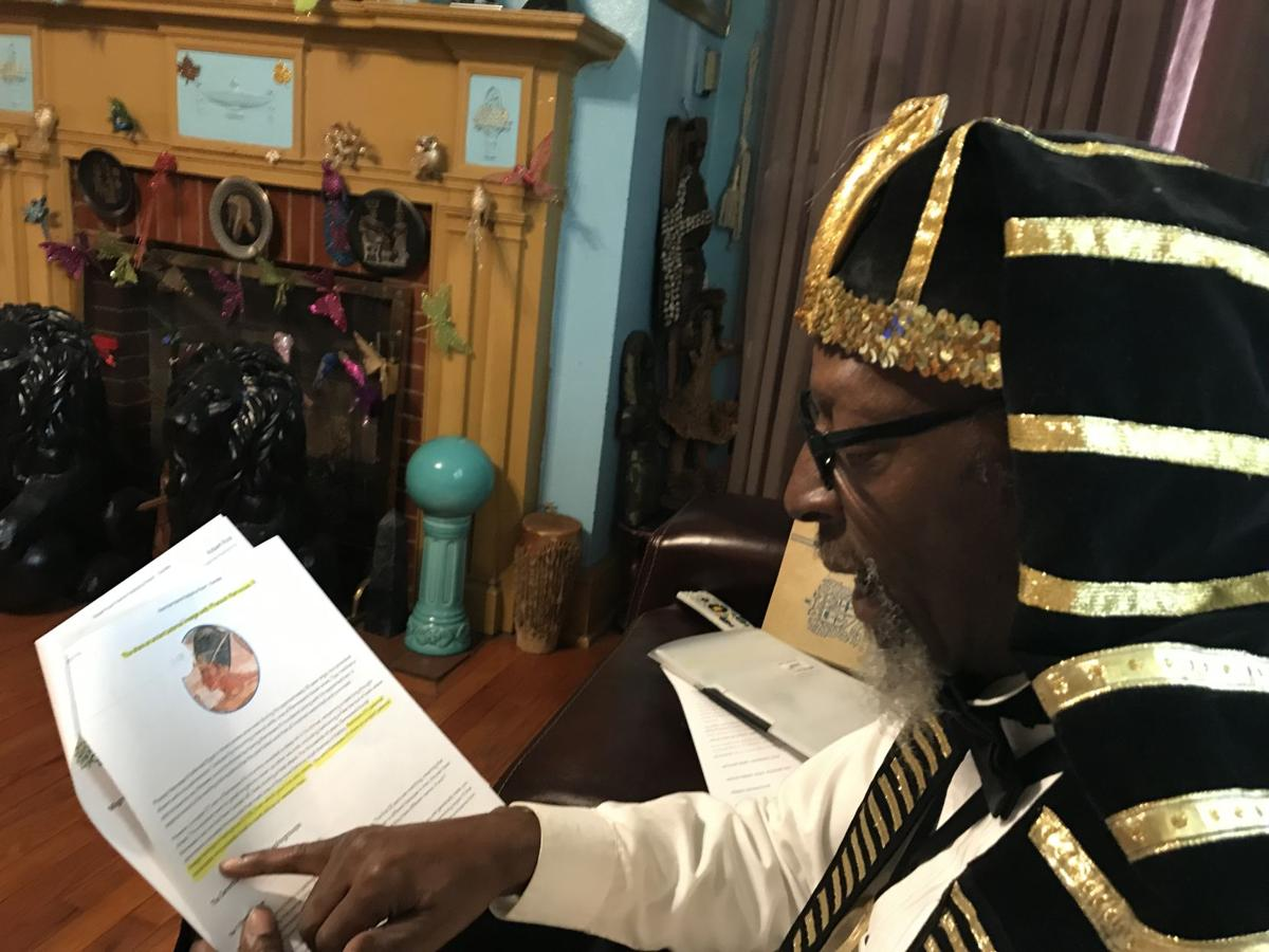 Charleston man who dons pharaoh garb gets DNA results linking him to