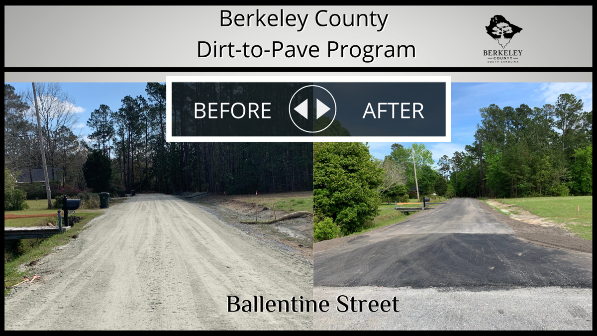 Berkeley County Completes Seven Dirt-to-Pave Road Projects HM