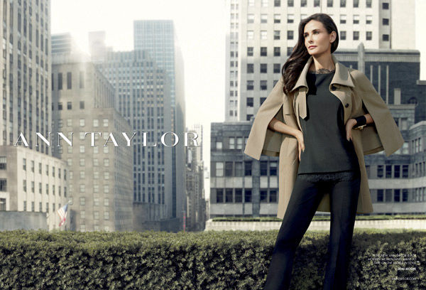 Demi Moore puts her stamp on Ann Taylor fall ads