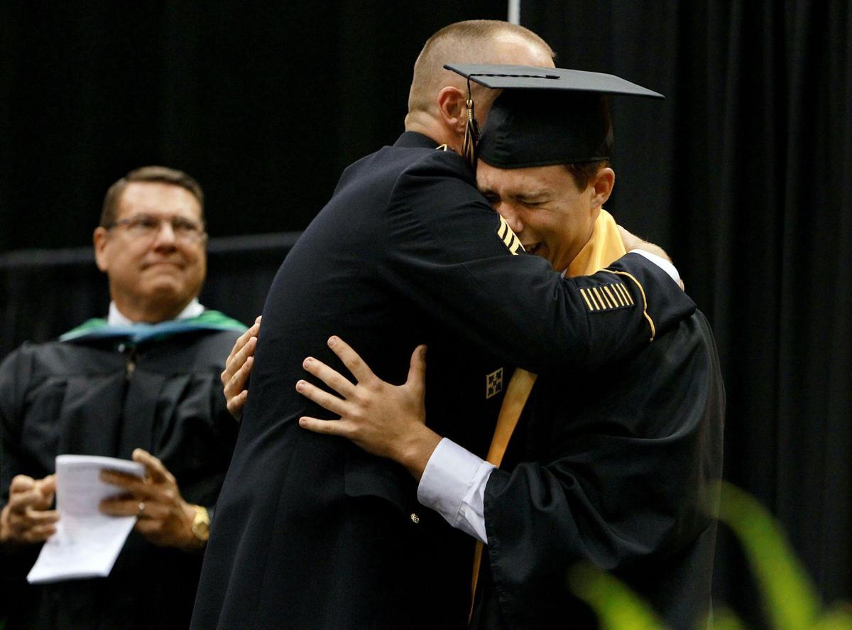 Army dad surprises son at Goose Creek graduation