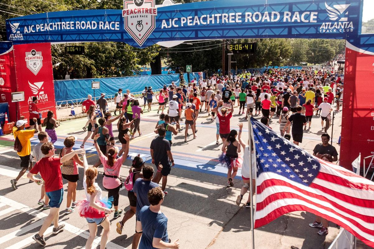 Largest race in the United States - Peachtree Road Race in Atlanta (2016