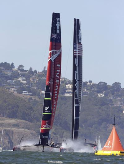 Emirates Team New Zealand one win from America's Cup