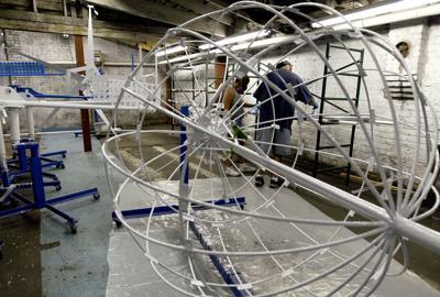 Engineers and mechanics renovate N.C. whirligigs