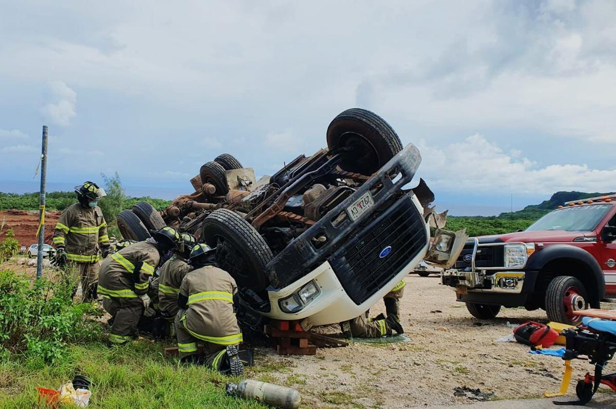 Truck crash claims life