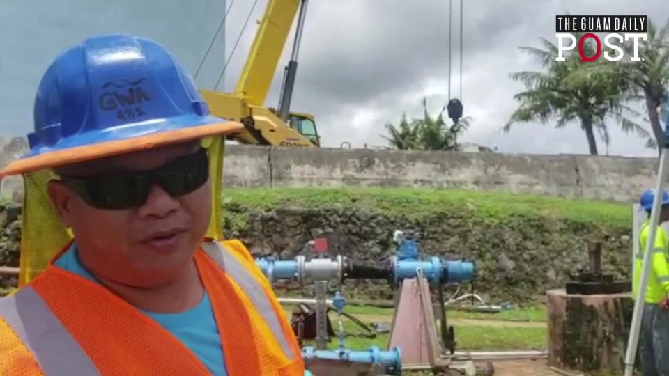 GWA crew works to restore water at Agana Heights, Sinajana