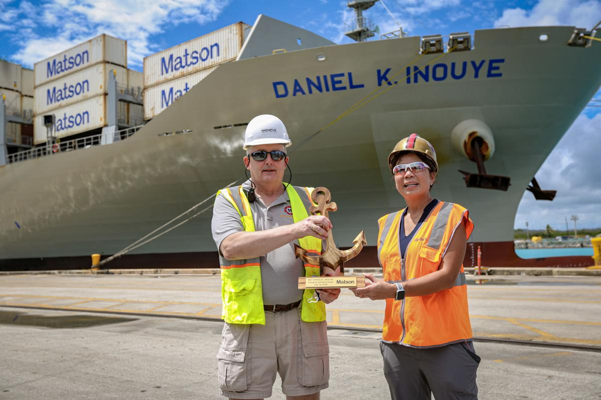 Matson's massive new containership begins Guam service