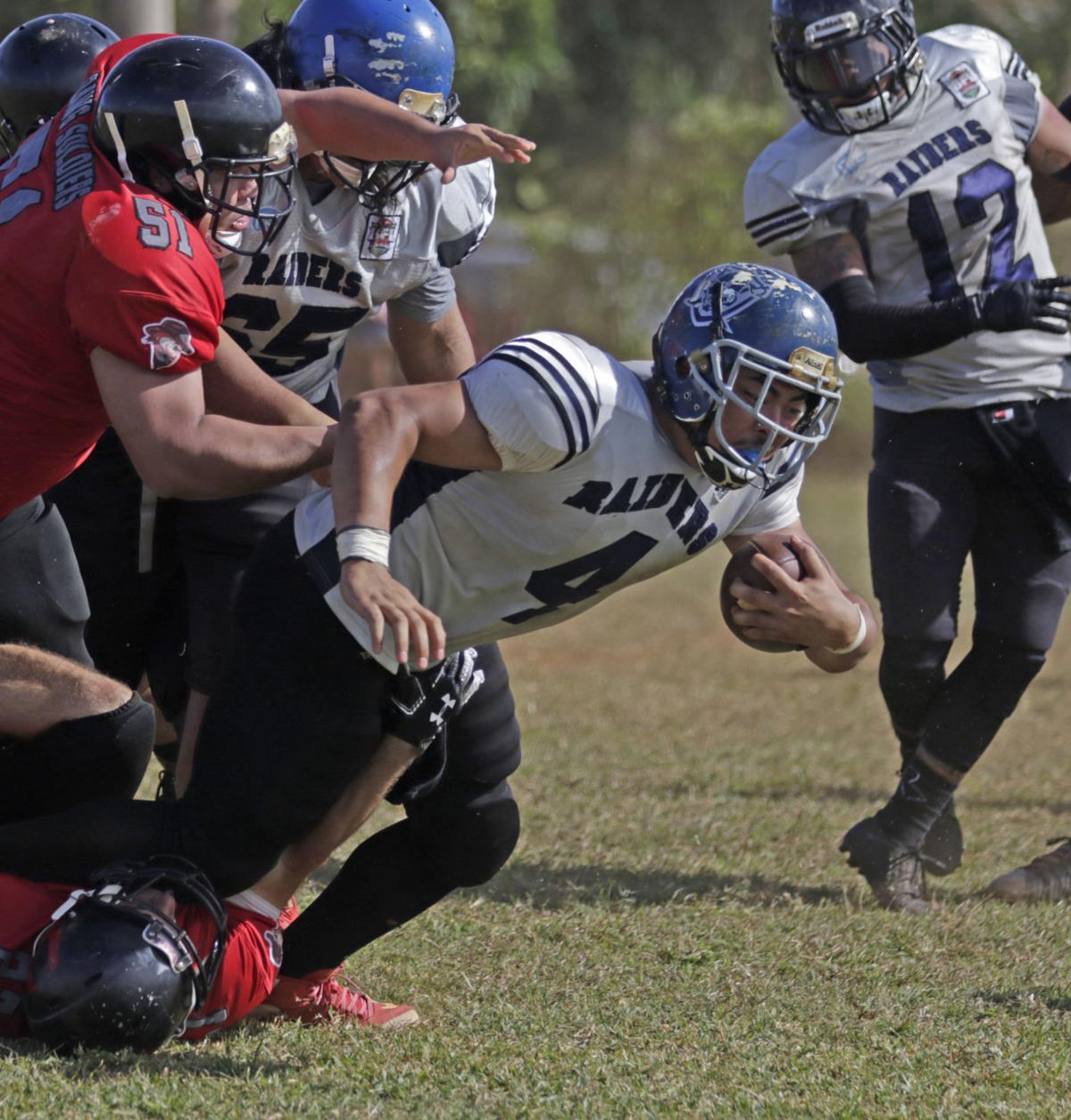 Perfect Raiders blitz winless Outlaws | Guam Sports