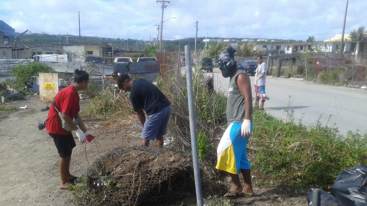 Chuukese Association hosts cleanup effort in Harmon
