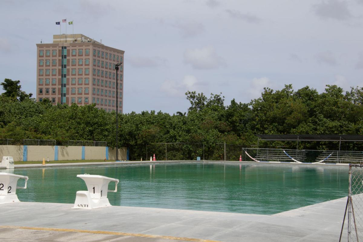 Neglected pool closed, contains fecal bacteria