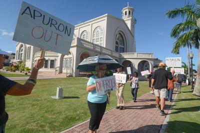 Catholics protest