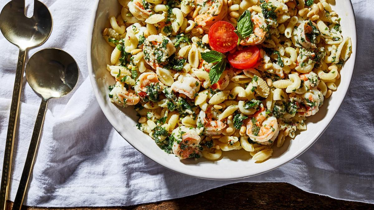 Shrimp pasta works for whole house