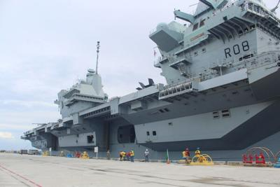 British warship returns to Guam