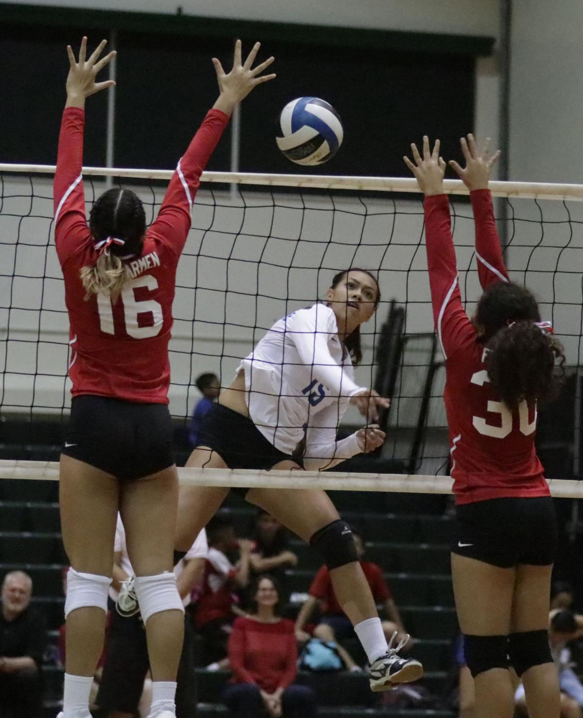 notre dame defends volleyball title guam sports