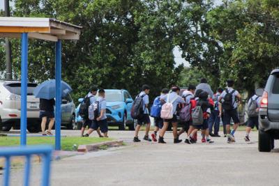 GDOE seeks funding to cover walkways at middle school