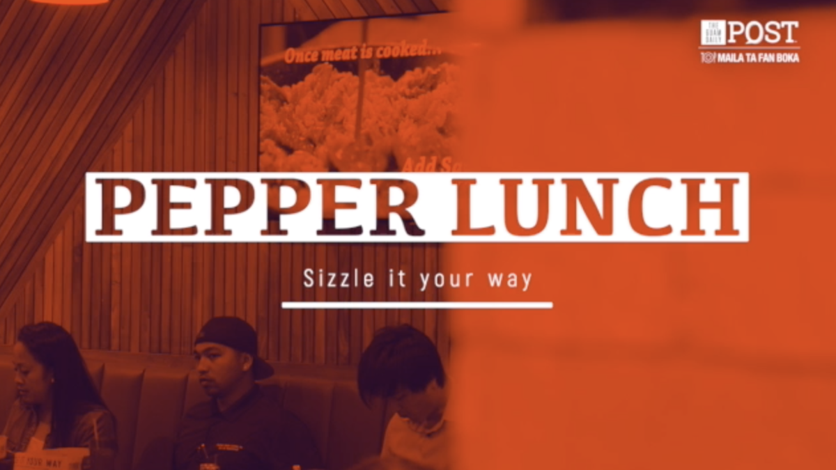 Sizzle it your way at Pepper Lunch