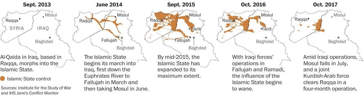 Timeline of ISIS' reach