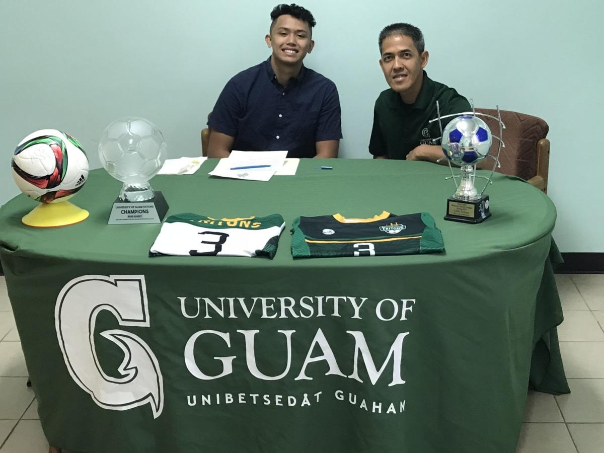 Kyler Duenas signs with UOG soccer